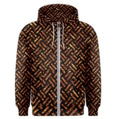 Woven2 Black Marble & Copper Foil Men s Zipper Hoodie