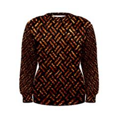 Woven2 Black Marble & Copper Foil Women s Sweatshirt