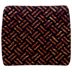 Woven2 Black Marble & Copper Foil Back Support Cushion