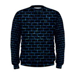 Brick1 Black Marble & Deep Blue Water Men s Sweatshirt