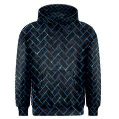 Brick2 Black Marble & Deep Blue Water Men s Pullover Hoodie