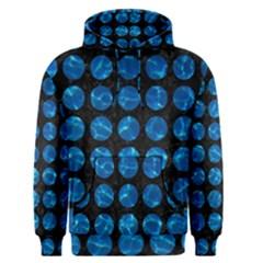 Circles1 Black Marble & Deep Blue Water Men s Pullover Hoodie