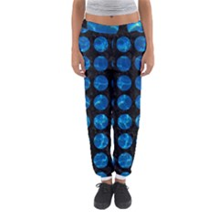 Circles1 Black Marble & Deep Blue Water Women s Jogger Sweatpants