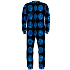 Circles1 Black Marble & Deep Blue Water Onepiece Jumpsuit (men)