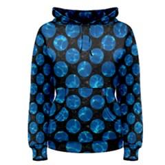Circles2 Black Marble & Deep Blue Water Women s Pullover Hoodie