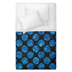 Circles2 Black Marble & Deep Blue Water Duvet Cover (single Size)