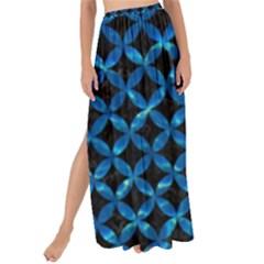Circles3 Black Marble & Deep Blue Water Maxi Chiffon Tie Up Sarong