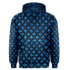 Circles3 Black Marble & Deep Blue Water (r) Men s Pullover Hoodie