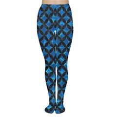 Circles3 Black Marble & Deep Blue Water (r) Women s Tights