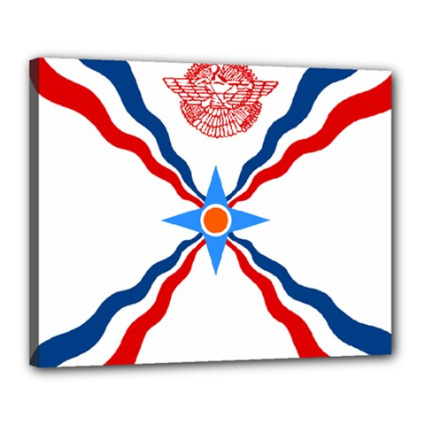 Assyrian Flag  Canvas 20  X 16