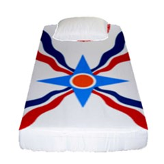 Assyrian Flag  Fitted Sheet (single Size)