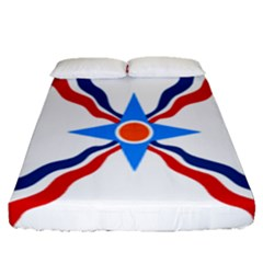 Assyrian Flag  Fitted Sheet (queen Size)
