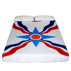 Assyrian Flag  Fitted Sheet (king Size)