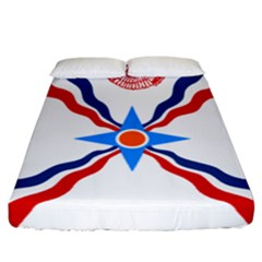 Assyrian Flag  Fitted Sheet (california King Size)