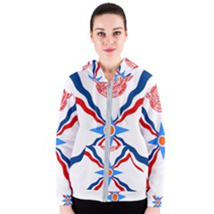 Assyrian Flag  Women s Zipper Hoodie