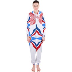 Assyrian Flag  Hooded Jumpsuit (ladies)