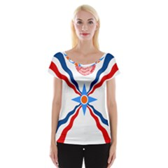 Assyrian Flag  Cap Sleeve Tops