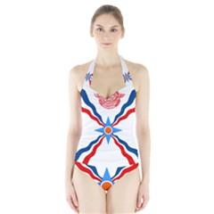 Assyrian Flag  Halter Swimsuit