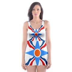 Assyrian Flag  Skater Dress Swimsuit