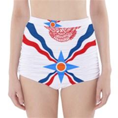 Assyrian Flag  High Waisted Bikini Bottoms