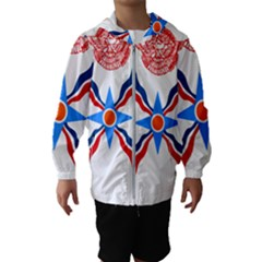 Assyrian Flag  Hooded Wind Breaker (kids)