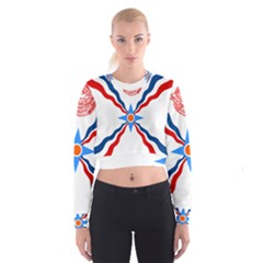 Assyrian Flag  Cropped Sweatshirt