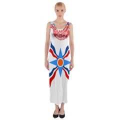 Assyrian Flag  Fitted Maxi Dress