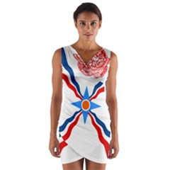 Assyrian Flag  Wrap Front Bodycon Dress