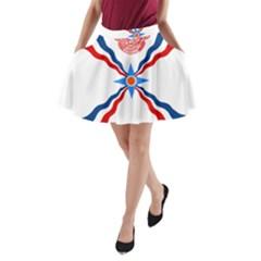 Assyrian Flag  A Line Pocket Skirt