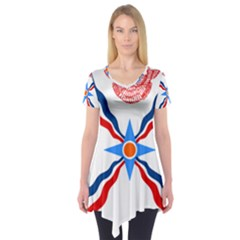 Assyrian Flag  Short Sleeve Tunic