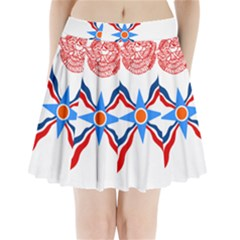 Assyrian Flag  Pleated Mini Skirt