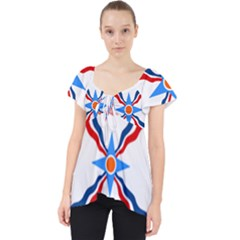 Assyrian Flag  Lace Front Dolly Top