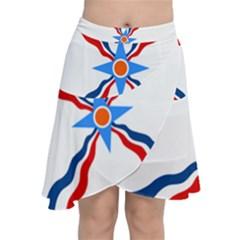 Assyrian Flag  Chiffon Wrap