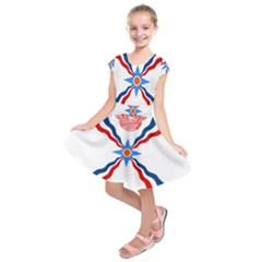 Assyrian Flag  Kids  Short Sleeve Dress