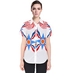 Assyrian Flag  Women s Short Sleeve Shirt