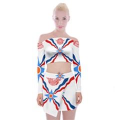 Assyrian Flag  Off Shoulder Top With Skirt Set