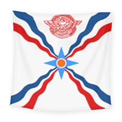 Assyrian Flag  Square Tapestry (large)