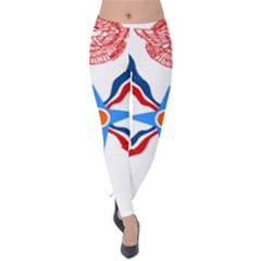 Assyrian Flag  Velvet Leggings