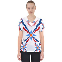 Assyrian Flag  Scrub Top
