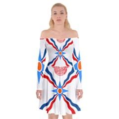 Assyrian Flag  Off Shoulder Skater Dress