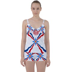 Assyrian Flag  Tie Front Two Piece Tankini