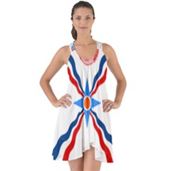 Assyrian Flag  Show Some Back Chiffon Dress