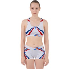 Assyrian Flag  Work It Out Sports Bra Set