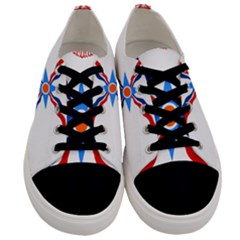 Assyrian Flag  Men s Low Top Canvas Sneakers