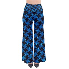 Houndstooth2 Black Marble & Deep Blue Water Pants