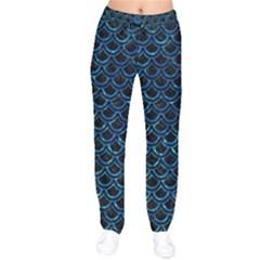 Scales2 Black Marble & Deep Blue Waterck Marble & Deep Blue Water Drawstring Pants