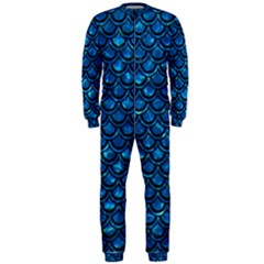 Scales2 Black Marble & Deep Blue Water (r) Onepiece Jumpsuit (men)