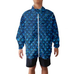 Scales2 Black Marble & Deep Blue Water (r) Wind Breaker (kids)