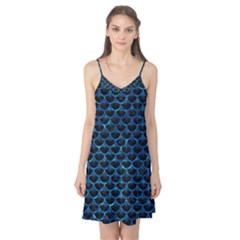 Scales3 Black Marble & Deep Blue Water Camis Nightgown