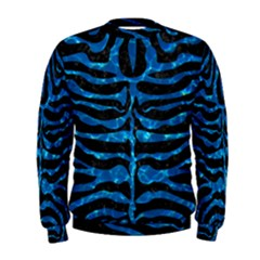 Skin2 Black Marble & Deep Blue Water Men s Sweatshirt